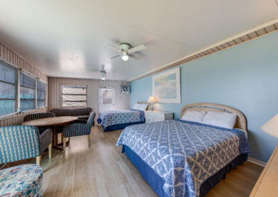 Cottage has waterfront views, two queen beds