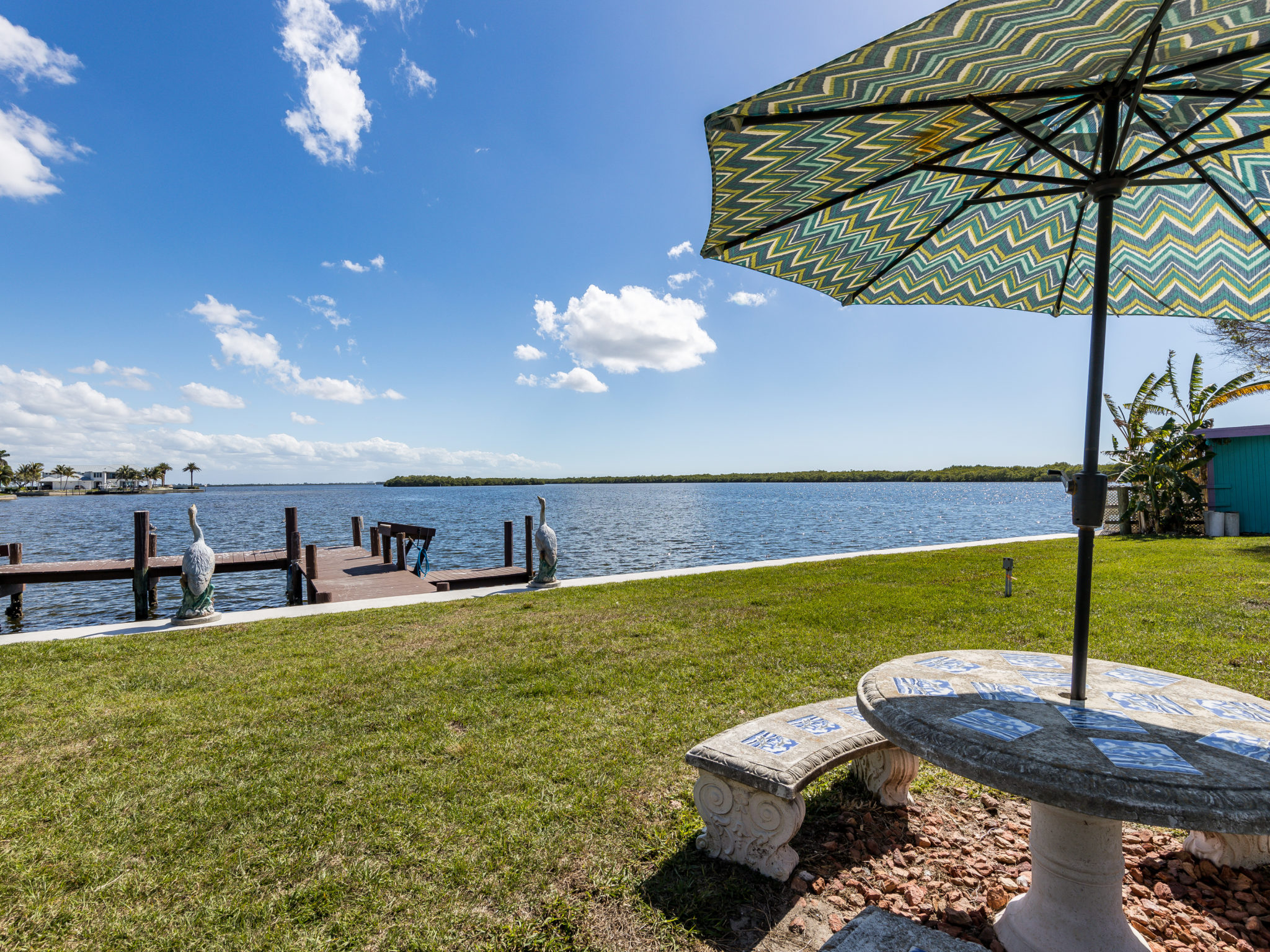 The views are spectacular at Knolls Court Waterfront Motel Matlacha Florida